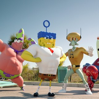 Patrick Star, SpongeBob SquarePants, Squidward Tentacles and Mr. Krabs in Paramount Pictures' The SpongeBob Movie: Sponge Out of Water (2015)