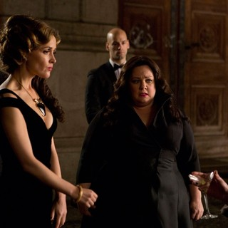 Rose Byrne and Melissa McCarthy (stars as Susan Cooper) in 20th Century Fox's Spy (2015)