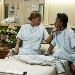 Queen Latifah stars as M'Lynn and Condola Rashad stars as Shelby in Lifetime Movie Network's Steel Magnolias (2012)