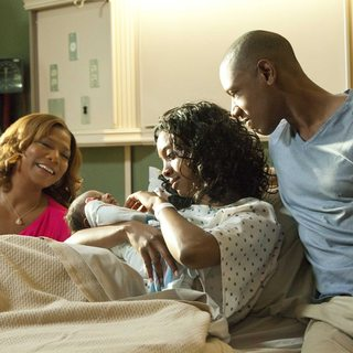 Queen Latifah, Condola Rashad and Lance Gross in Lifetime Movie Network's Steel Magnolias (2012)