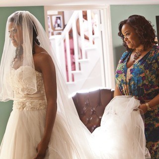 Condola Rashad stars as Shelby and Jill Scott stars as Truvy in Lifetime Movie Network's Steel Magnolias (2012)