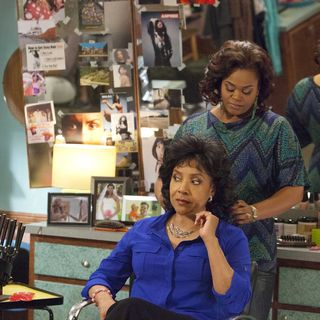 Phylicia Rashad stars as Clairee and Jill Scott stars as Truvy in Lifetime Movie Network's Steel Magnolias (2012)