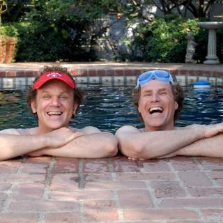 John C. Reilly as Dale Doback (left) and Will Ferrell as Brennan Huff (right) in Columbia Pictures' comedy STEP BROTHERS (2008).