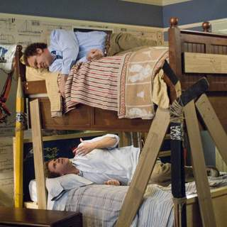 John C. Reilly as Dale Doback (top) and Will Ferrell as Brennan Huff in Columbia Pictures' comedy STEP BROTHERS (2008).