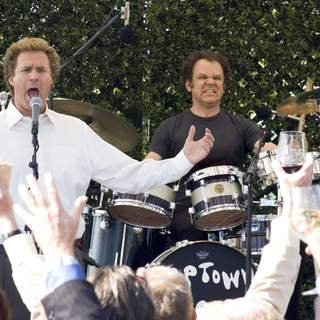 Will Ferrell as Brennan Huff (left) and John C. Reilly as Dale Doback (right) in Columbia Pictures' comedy STEP BROTHERS (2008).