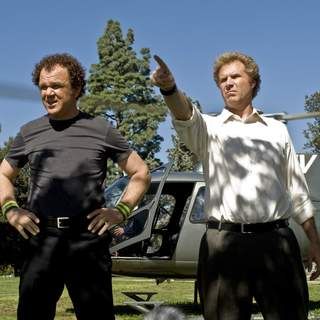 John C. Reilly (left) and Will Ferrell (right) star in Columbia Pictures' comedy STEP BROTHERS.