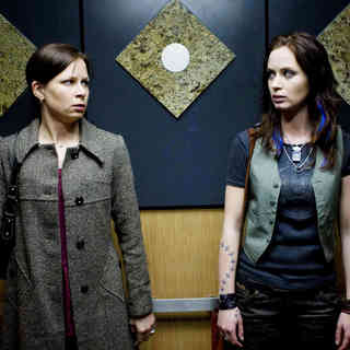 Mary Lynn Rajskub stars as Lynn and Emily Blunt stars as Norah Lorkowski in Overture Films' Sunshine Cleaning (2009). Photo credit by Lacey Terrell.