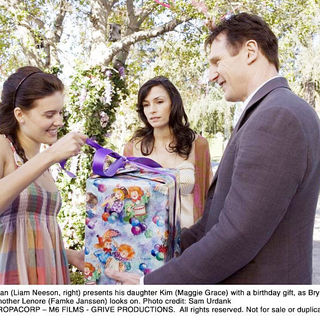 Maggie Grace, Famke Janssen and Liam Neeson in The 20th Century Fox's Taken (2009). Photo credit by Sam Urdank. - taken08