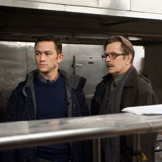 Dark Knight Rises, The - Joseph Gordon-Levitt stars as John Blake and Gary Oldman stars as Jim Gordon in Warner Bros. Pictures' The Dark Knight Rises (2012)