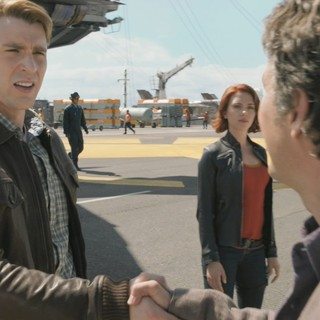 Avengers, The - Chris Evans, Scarlett Johansson and Mark Ruffalo in Walt Disney Pictures' The Avengers (2012)