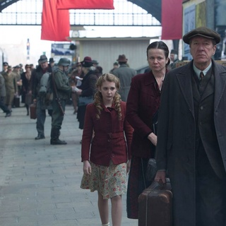 Sophie Nelisse, Emily Watson and Geoffrey Rush in 20th Century Fox's The Book Thief (2013) - the-book-thief03
