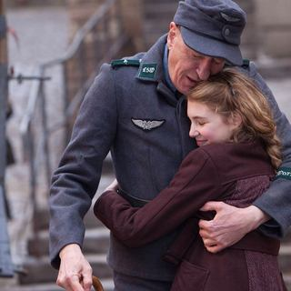 Geoffrey Rush stars as Hans Hubermann and Sophie Nelisse stars as Liesel Meminger in 20th Century Fox's The Book Thief (2013) - the-book-thief04