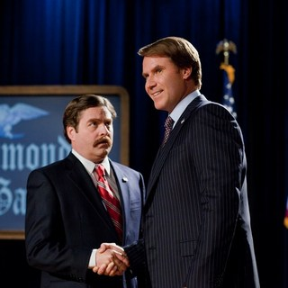 Campaign, The - Zach Galifianakis stars as Marty Huggins and Will Ferrell stars as Cam Brady in Warner Bros. Pictures' The Campaign (2012)