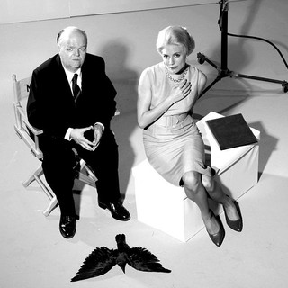 Toby Jones stars as Alfred Hitchcock and Sienna Miller stars as Tippi Hedren in HBO Films' The Girl (2012) - the-girl-2013-01