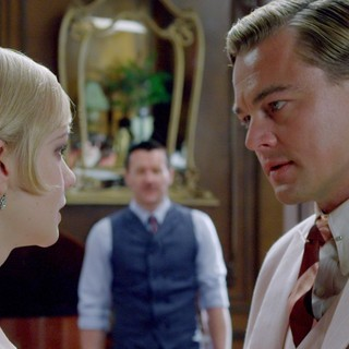 Carey Mulligan stars as Daisy Buchanan and Leonardo DiCaprio stars as Jay Gatsby in Warner Bros. Pictures' The Great Gatsby (2013)