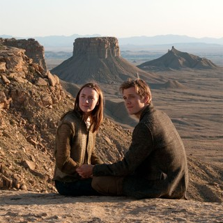 Saoirse Ronan stars as Melanie Stryder and Jake Abel stars as Ian O'Shea in Open Road Films' The Host (2013) - the-host-2013-08
