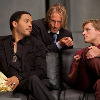 Hunger Games, The - Lenny Kravitz, Woody Harrelson and Josh Hutcherson in Lionsgate Films' The Hunger Games (2012)