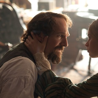 Ralph Fiennes stars as Charles Dickens and Felicity Jones stars as Nelly Ternan in Sony Pictures Classics' The Invisible Woman (2013). Photo credit by David Appleby.