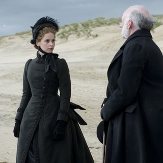 Felicity Jones stars as Nelly Ternan and John Kavanagh stars as Rev. William Benham in Sony Pictures Classics' The Invisible Woman (2013). Photo credit by David Appleby.