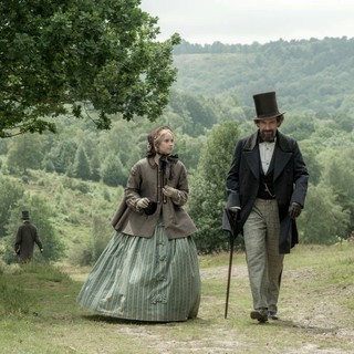Felicity Jones stars as Nelly Ternan and Ralph Fiennes stars as Charles Dickens in Sony Pictures Classics' The Invisible Woman (2013). Photo credit by David Appleby.