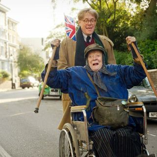 Alex Jennings stars as Alan Bennett and Maggie Smith stars as Miss Shepherd in Sony Pictures Classics' The Lady in the Van (2015)