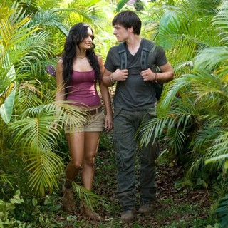 Vanessa Hudgens stars as Kailani and Josh Hutcherson stars as Sean Anderson in Warner Bros. Pictures' Journey 2: The Mysterious Island (2012)