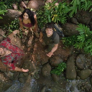 Luis Guzman, Vanessa Hudgens and Josh Hutcherson in Warner Bros. Pictures' Journey 2: The Mysterious Island (2012)