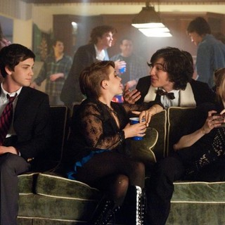 Logan Lerman, Mae Whitman, Ezra Miller and Erin Wilhelmi in Summit Entertainment's The Perks of Being a Wallflower (2012)