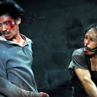 Doni Alamsyah stars as Andi and Yayan Ruhian stars as Mad Dog in Sony Pictures Classics' The Raid: Redemption (2012). Photo credit by Akhirwan Nurhaidir.