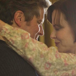 Colin Firth stars as Eric Lomax and Nicole Kidman stars as Patricia Wallace in The Weinstein Company's The Railway Man (2014)