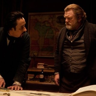 John Cusack stars as Edgar Allan Poe and Brendan Gleeson stars as Captain Hamilton in Relativity Media's The Raven (2012) - the-raven-movie05