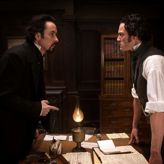 John Cusack stars as Edgar Allan Poe and Luke Evans stars as Detective Emmett Fields in Relativity Media's The Raven (2012)