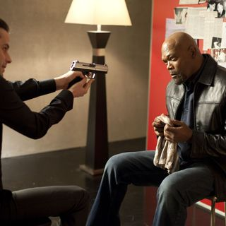 Luke Kirby stars as Ethan and Samuel L. Jackson stars as Foley in IFC Films' The Samaritan (2012). Photo credit by Sabrina Lantos.