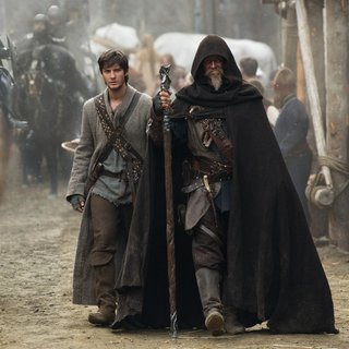 Ben Barnes stars as Tom Ward and Jeff Bridges stars as Master Gregory in Warner Bros. Pictures' The Seventh Son (2013)
