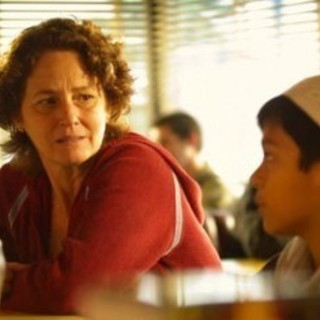 Melissa Leo stars as Montine and Anthony Keyvan stars as Omar in USA Network's The Space Between (2011)