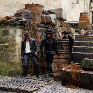 Logan Lerman, Matthew Macfadyen, Luke Evans and Ray Stevenson in Summit Entertainment's The Three Musketeers (2011) - the-three-musketeers-still10