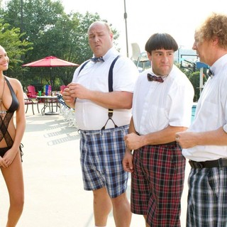 Kate Upton, Will Sasso, Chris Diamantopoulos and Sean Hayes in 20th Century Fox's The Three Stooges (2012)
