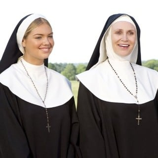 Kate Upton stars as Sister Bernice and Jane Lynch stars as Mother Superior in 20th Century Fox's The Three Stooges (2012)