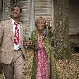 Blair Underwood stars as Ludie Watts and Cicely Tyson stars as Mrs. Watts in Lifetime's The Trip to Bountiful (2014). Photo credit by Bob Mahoney.