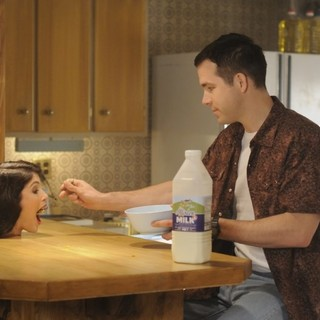 Voices, The - Gemma Arterton and Ryan Reynolds (stars as Jerry Hickfang) in Lionsgate Films' The Voices (2015)