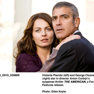 Violante Placido stars as Clara and George Clooney stars as Jack in Focus Features' The American (2010). Photo by Giles Keyte
