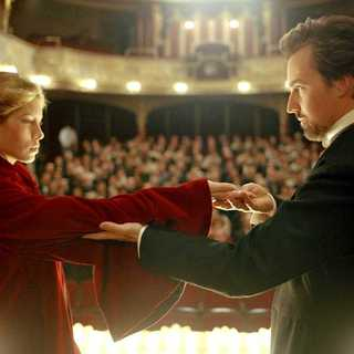 Jessica Biel as Princess Sophie and Edward Norton as a magician named Eisenheim in The Illusionist (2006)