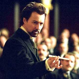 Edward Norton as a magician named Eisenheim in The Illusionist (2006)