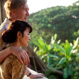David Thewlis stars as Michael Aris and Michelle Yeoh stars as Aung San Suu Kyi in Cohen Media Group's The Lady (2012)