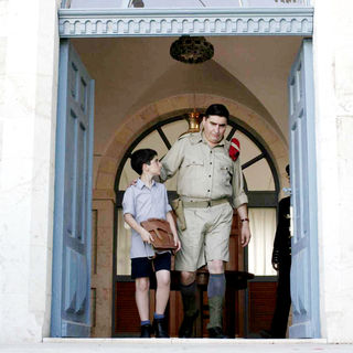 Ido Port stars as Proffy and Alfred Molina stars as Dunlop in Regent Releasing's The Little Traitor (2009). Photo credit by Yoni Hamenachem.