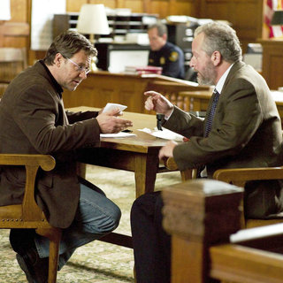 Russell Crowe stars as John Brennan and Daniel Stern stars as Mayer Fisk in Lionsgate Films' The Next Three Days (2010). Photo credit by: Phil Caruso.