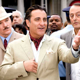 Steve Martin, Andy Garcia and Jean Reno in Columbia Pictures' The Pink Panther 2 (2009). Photo credit by Peter Iovino.