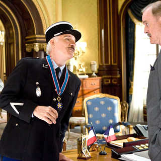 Steve Martin stars as Inspector Jacques Clouseau and John Cleese stars as Chief Inspector Dreyfus in Columbia Pictures' The Pink Panther 2 (2009). Photo credit by Peter Iovino.
