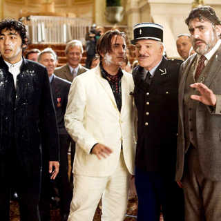 Yuki Matsuzaki, Andy Garcia, Steve Martin and Alfred Molina in Columbia Pictures' The Pink Panther 2 (2009). Photo credit by Peter Iovino.