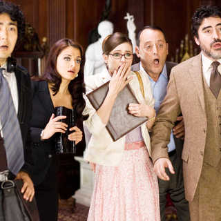 Yuki Matsuzaki, Aishwarya Rai, Emily Mortimer, Jean Reno and Alfred Molina in Columbia Pictures' The Pink Panther 2 (2009). Photo credit by Peter Iovino.